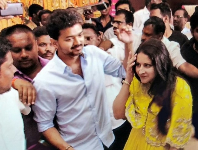 Thalapathy Vijay Bussy Anand Daughter Reception At Pondicherry