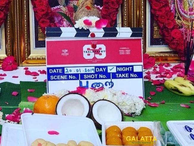Thalapathy 63 Shooting Begins In Chennai Viral Pooja Pictures Vijay Getup