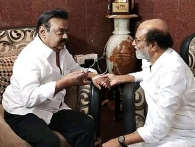 Rajinikanth Reveals Real Reason Behind Meeting Vijayakanth!