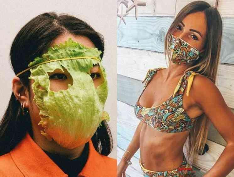Fighting coronavirus with fashion Trikini shoe masks and more - Tamil Movie Cinema News