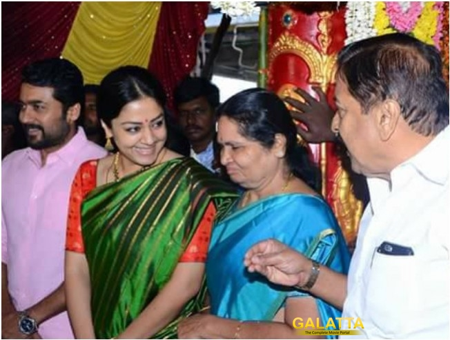 Suriya Jyothika And Sivakumar Attend Wedding Karthi