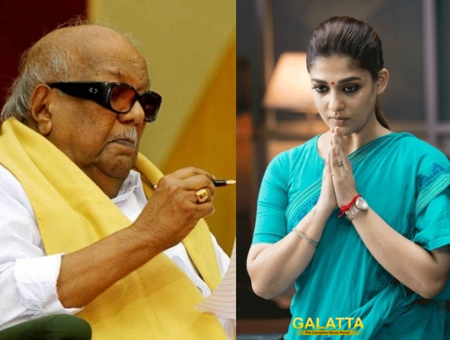 Nayanthara offers condolences to Dr. Karunanidhi's demise!