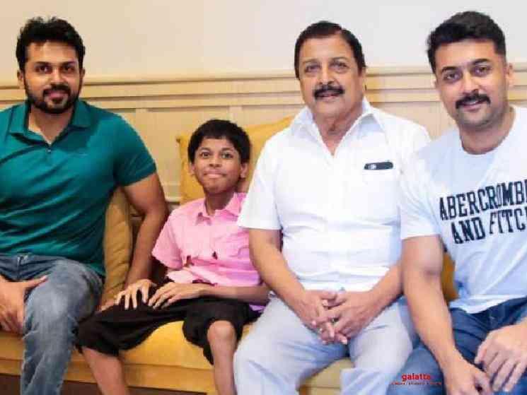 Sivakumar Suriya Karthi donate 10 lakhs for FEFSI employees - Tamil Movie Cinema News