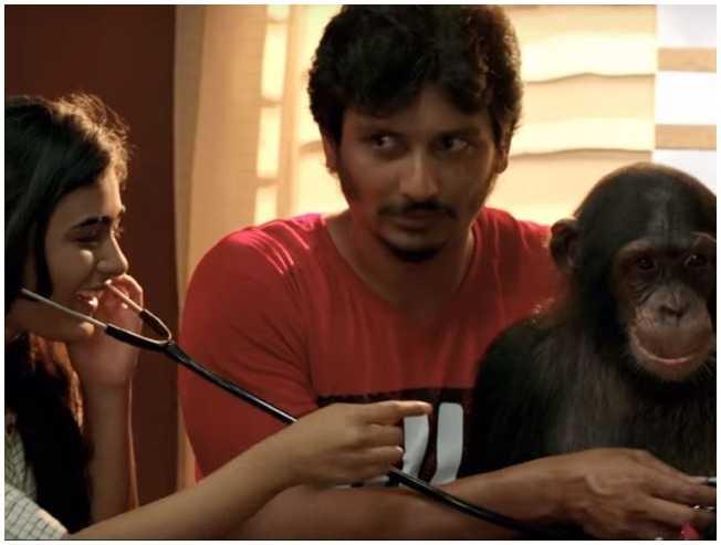 Jiiva Shalini Pandey Gorilla Tamil movie Radha Ravi intro - Tamil Movie Cinema News