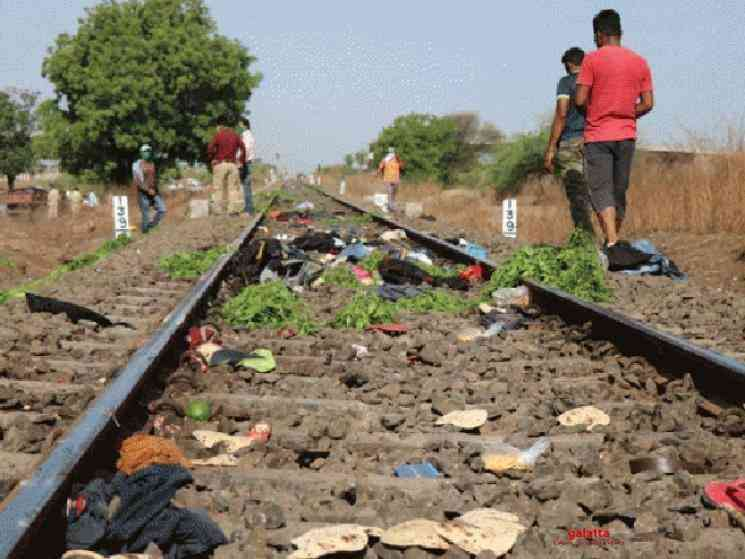 16 migrant workers killed by train while returning home - Tamil Movie Cinema News