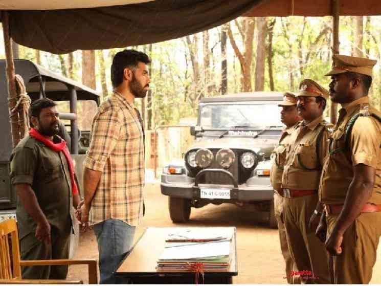 Sibiraj Ramya Nambessan Ranger talkie portions shoot wrapped up - Tamil Movie Cinema News
