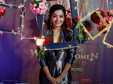 Rashmika Mandanna and Siruthai Siva come together on the Galatta Wonder Women Awards stage!