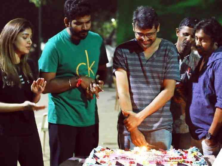 Nayanthara Netrikann director Milind Rau birthday on sets - Malayalam Movie Cinema News