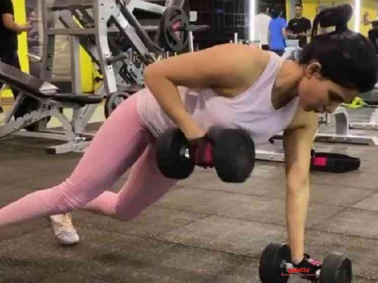 Samantha lifts 100 Kgs deadweight video goes viral - Tamil Movie Cinema News