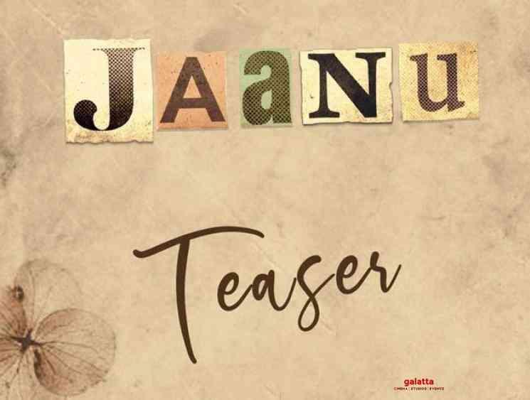 Jaanu Telugu movie teaser to release on January 9th - Tamil Movie Cinema News
