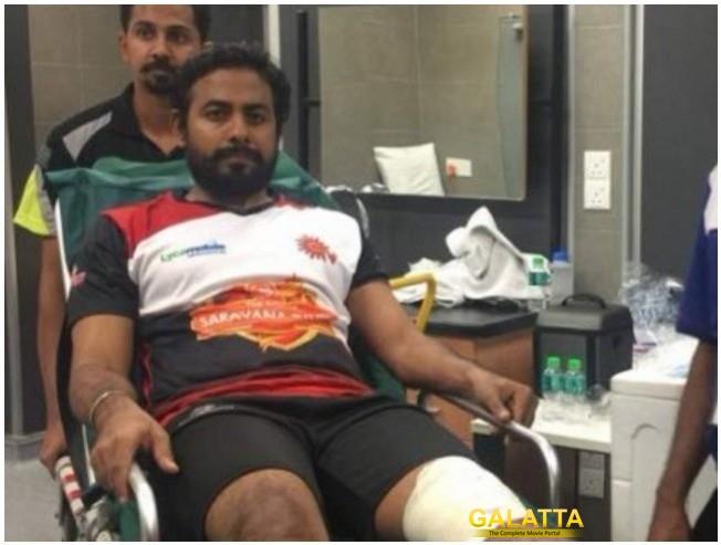 Actor Aari Knee Injury At Natchathira Vizha 2018