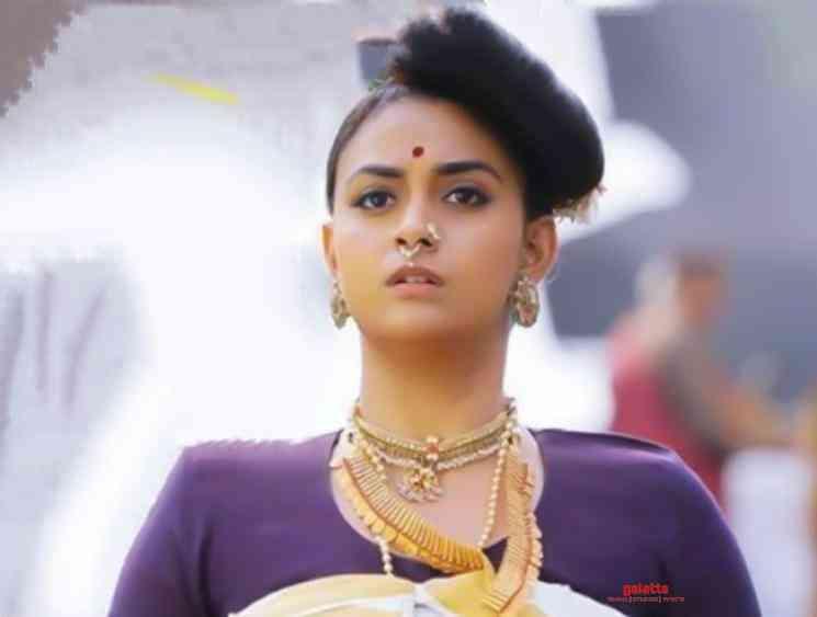 Keerthy Suresh traditional look in Marakkar Arabikadalinte Simham - Tamil Movie Cinema News