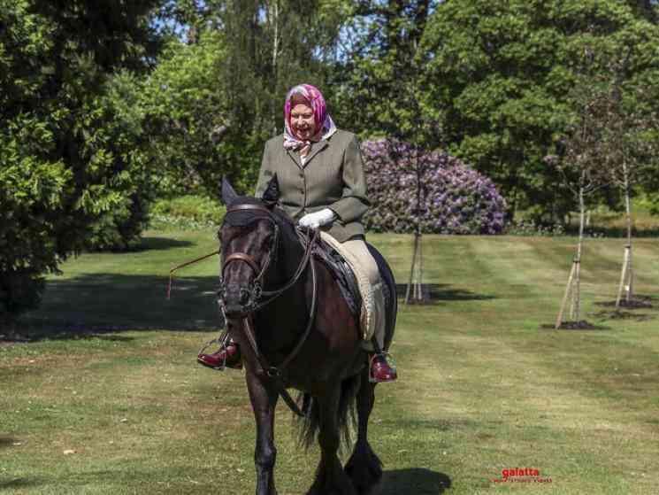 Queen Elizabeth spotted on horseback as UK eases lockdown - Tamil Movie Cinema News