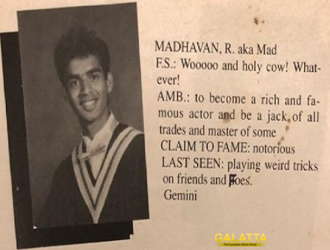 madhavan graduation yearbook
