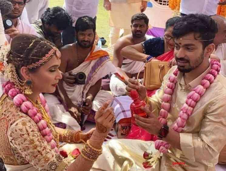 Mahat Raghavendra Prachi Mishra wedding photos go viral - Tamil Movie Cinema News