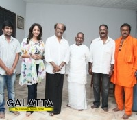 rajinikanth visits maranthen manithen sets - Tamil Movie Cinema News