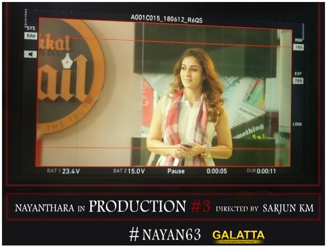 Nayan 63 First Look On October 9 Nayanthara Sarjun KJR Studios