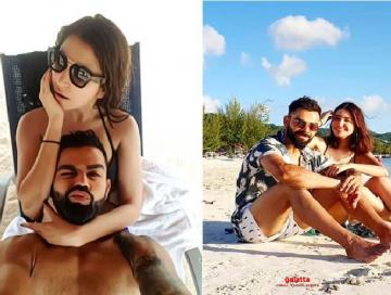 anushka sharma virat kohli cute selfie on beach