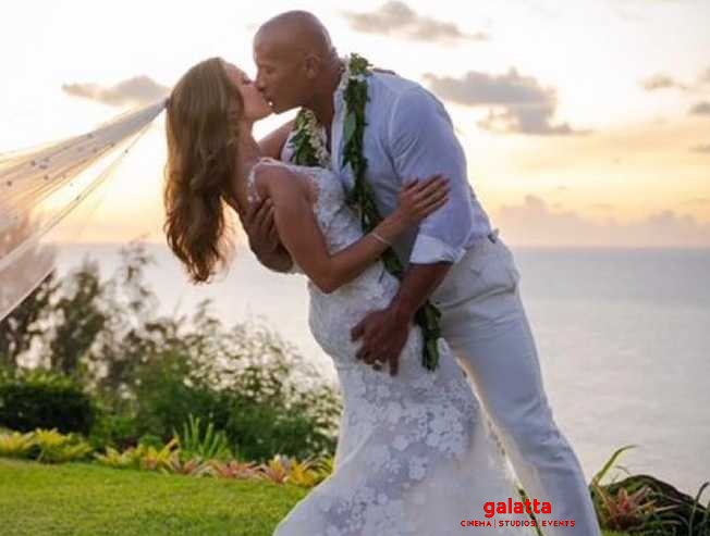 The Rock gets married in a hush-hush ceremony to his longtime girlfriend