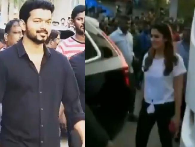 Vijay and Nayanthara videos from the shooting spot of Thalapathy 63 going viral