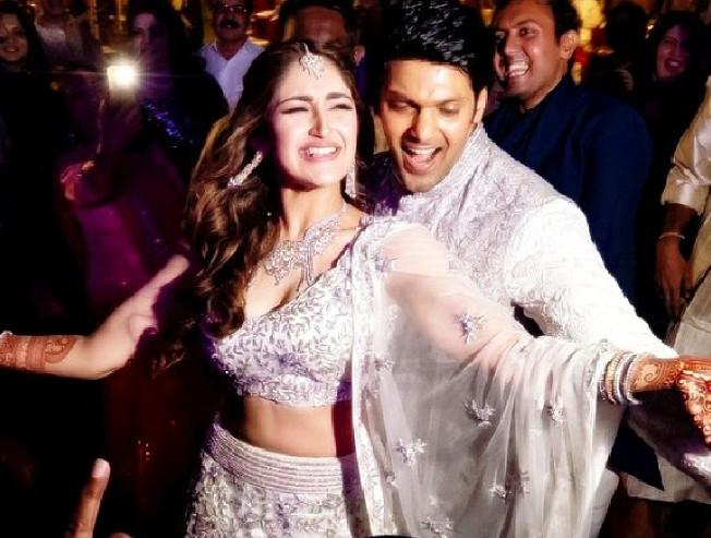 Arya and Sayyeshaa viral dance video from their wedding dance to Rowdy Baby song