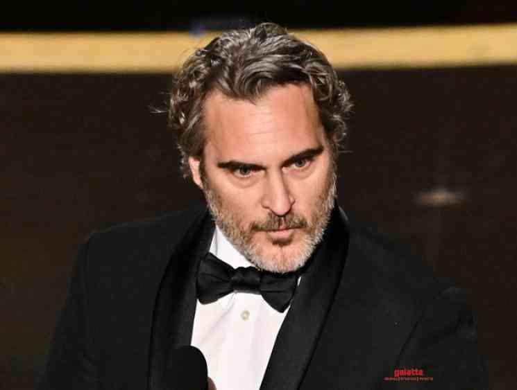 Oscars 2020 Joaquin Phoenix wins Best Actor Award for Joker - Tamil Movie Cinema News