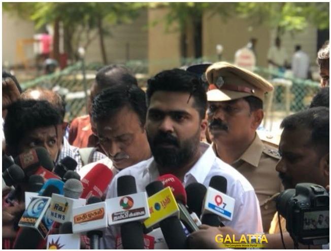 Simbu Full Speech After Meeting Chennai Police Commissioner Regarding Mansoor Ali Khan Arrest