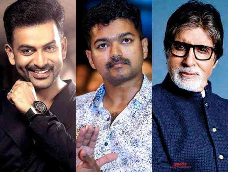 Prithviraj compares Thalapathy Vijay with Amitabh Bachchan Master - Tamil Movie Cinema News