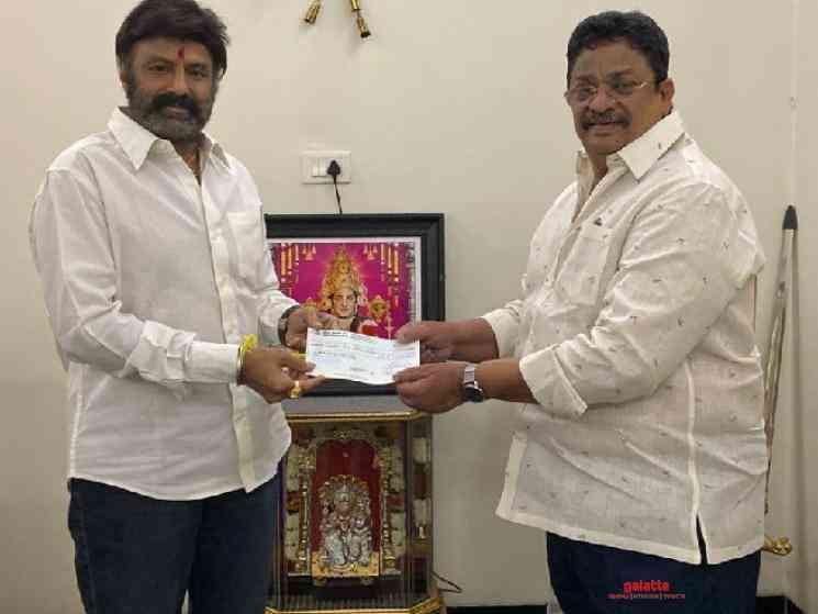 Balakrishna donates 1 Crore 25 Lakhs for Corona relief efforts - Tamil Movie Cinema News