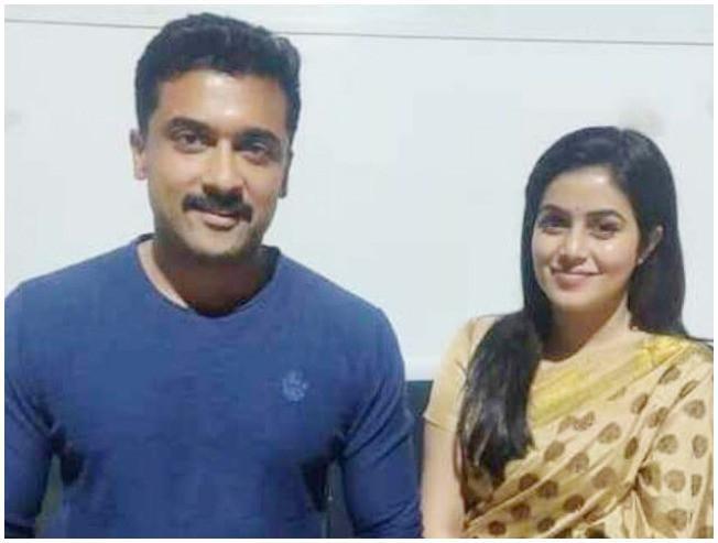 Suriya Kaappaan Poorna Shamna Kasim As Samuthirakani Wife KV Anand Mohanlal