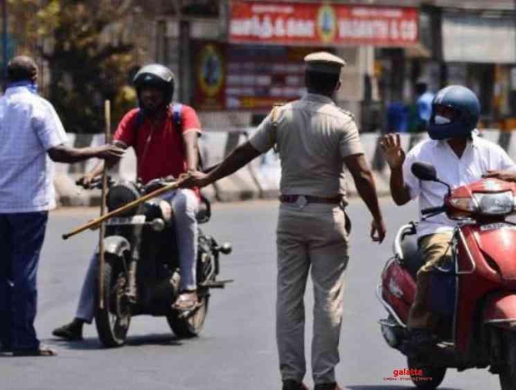 Tamil Nadu police statement on coronavirus lockdown violators - Tamil Movie Cinema News