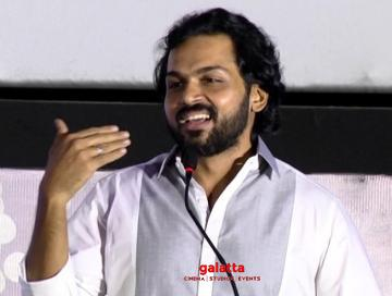 Thambi audio launch Karthi speech about Jyothika Jeethu Joseph - Tamil Movie Cinema News