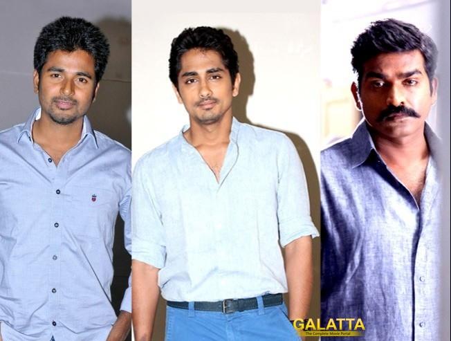 Siddharth, Vijay Sethupathi and Sivakarthikeyan fight it out