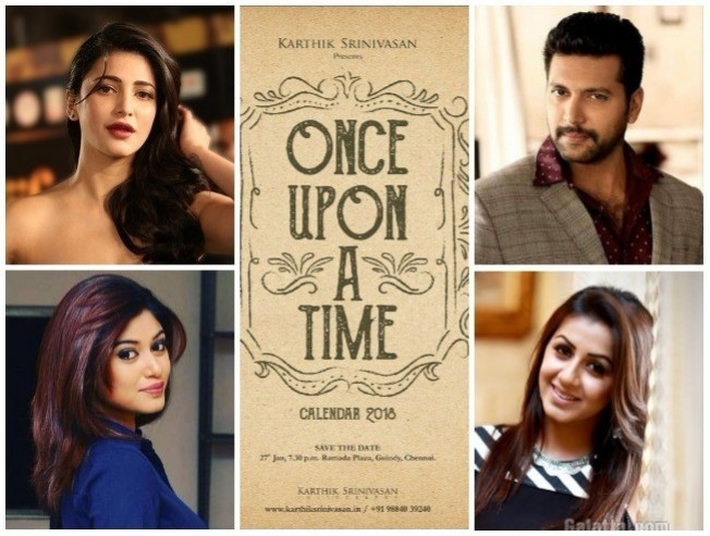 Celebrity Photographer Karthik Srinivasan Once Upon A Time Calendar 2018 Launch