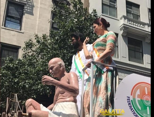 Rana and Tamannaah at India Day parade in New York