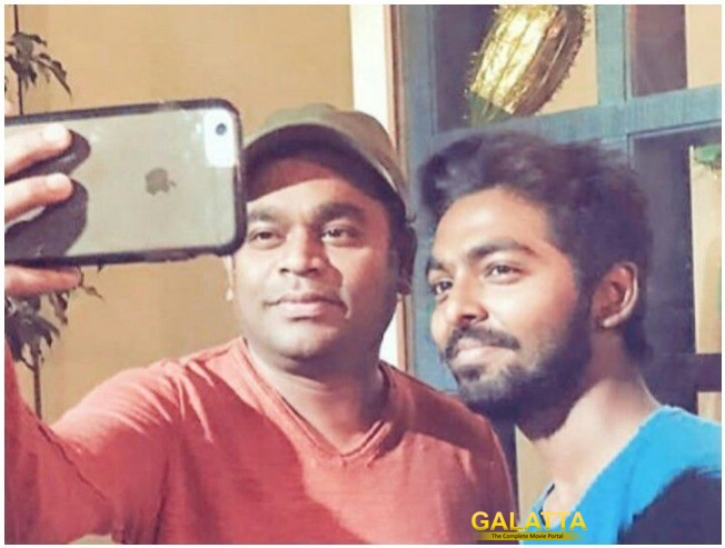 GV Prakash A R Rahman Recording Session Throwback Video