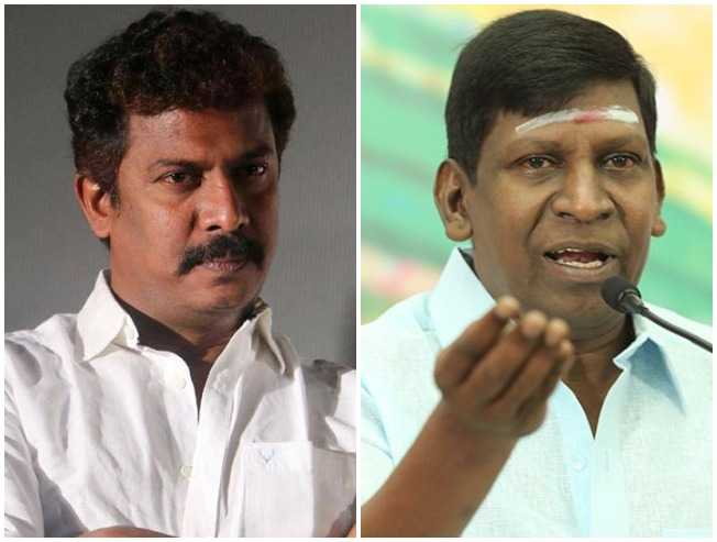 Vadivelu Imsai Arasan Pulikesi Controversy Samuthirakani Supports Shankar Chimbudeven