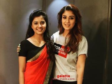 Bigil actress Amritha Aiyer birthday gift watch Nayanthara Vijay - Tamil Movie Cinema News