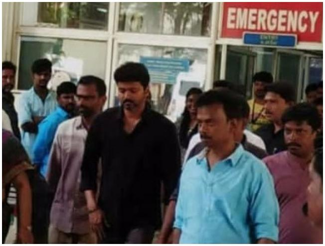 Thalapathy 63 shooting spot accident - Vijay visits hospital