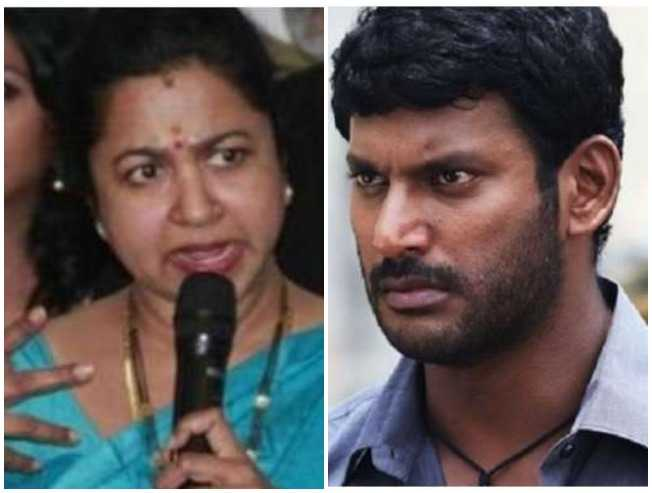 Radhika lashes out with facts against Vishal and Nadigar Sangam