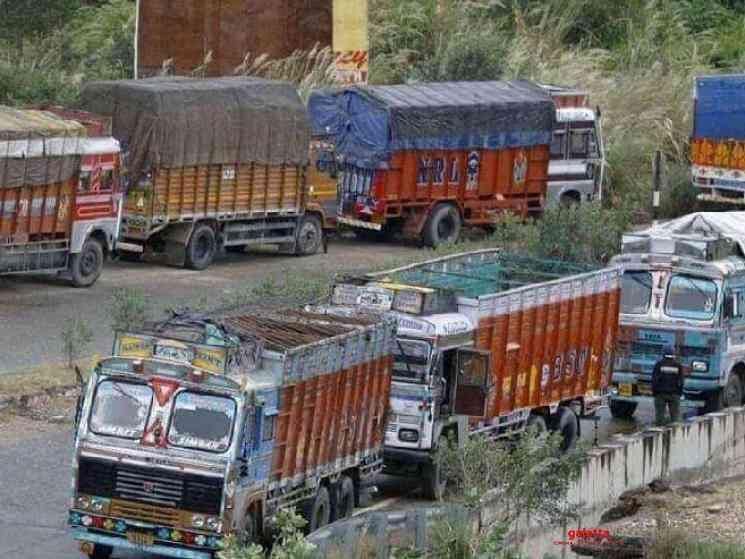3 Lakh lorries stranded on roads with 35000 Crores worth goods - Tamil Movie Cinema News