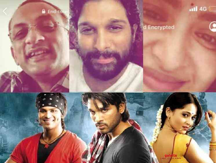 Allu Arjun Anushka and Vedam team get together on video call - Tamil Movie Cinema News