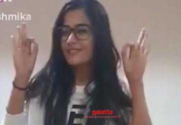 வைரலாகும் ராஷ்மிகா மந்தனாவின் டான்ஸ் வீடியோ !- Tamil Movies News
