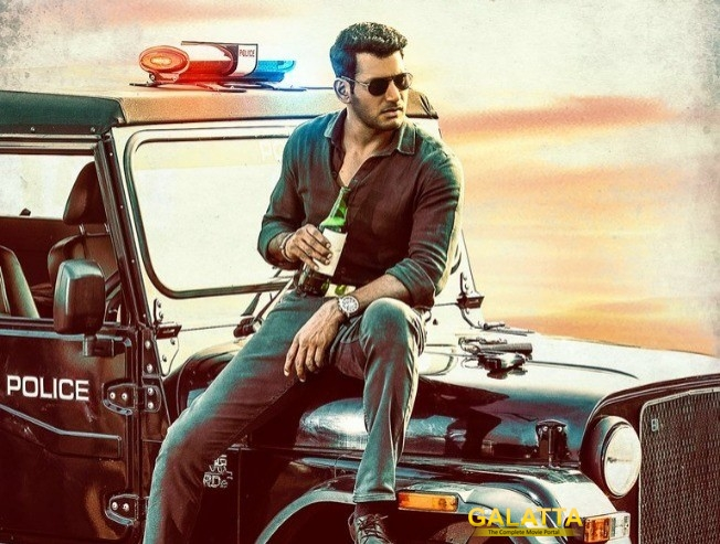 Ayogya First Poster Unveiled Vishal Upcoming Movie