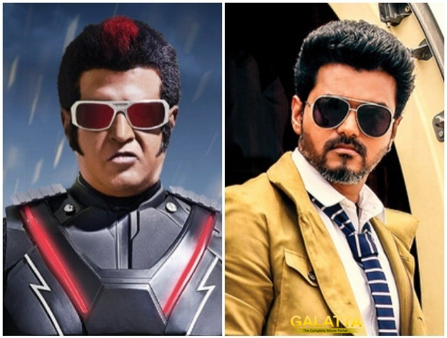 Superstar Rajinikanth in 2.0 and Thalapathy Vijay in Sarkar
