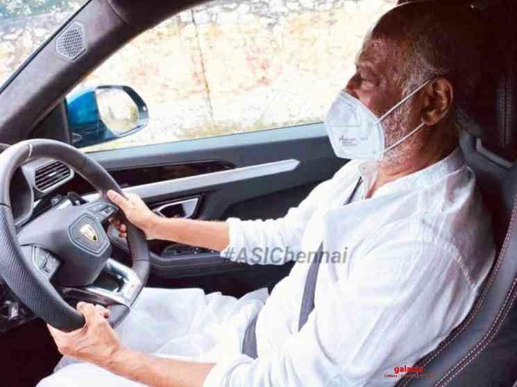 Rajinikanth driving Lamborghini car during lockdown viral photo - Tamil Movie Cinema News