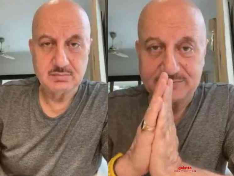 Anupam Kher mother and brother family test positive for Corona - Tamil Movie Cinema News