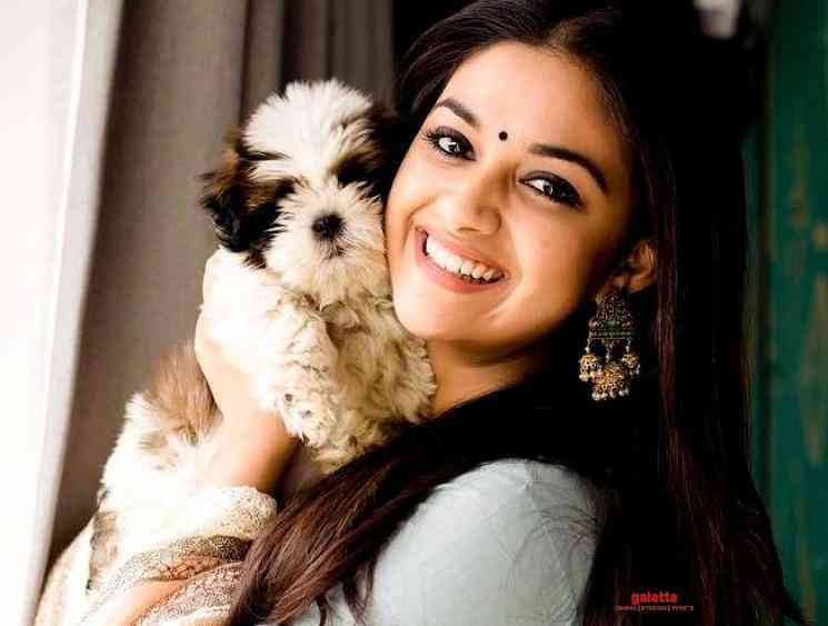 Keerthy Suresh reveals her quarantine partner her pet dog Nyke - Tamil Movie Cinema News