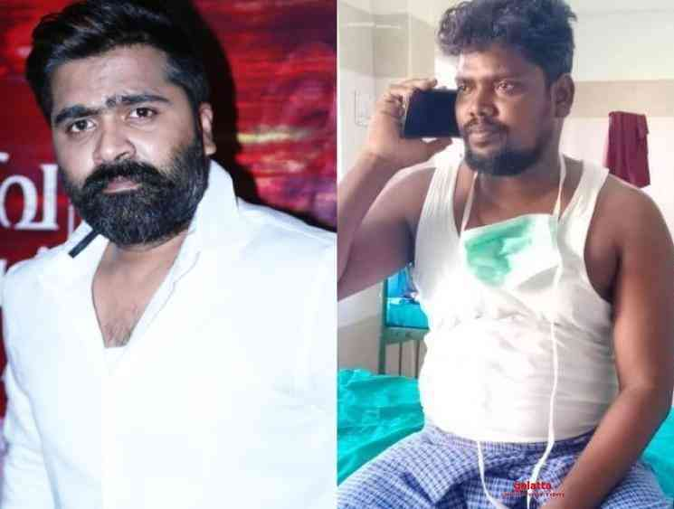 Simbu calls his fan over phone and wishes speedy recovery Corona - Tamil Movie Cinema News
