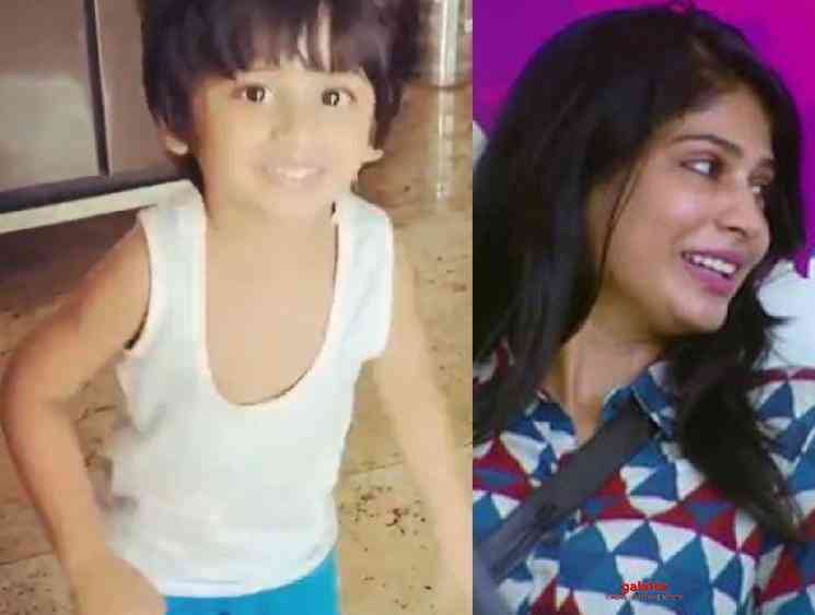 Bigg Boss fame Vijayalakshmi son Nilan dance video Vaathi Coming - Tamil Movie Cinema News